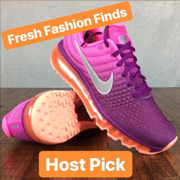 526910ca768d NEW Nike Air Max 2017 Running Shoes Grape Fire. M 5adaab22a4c485f058026a5f